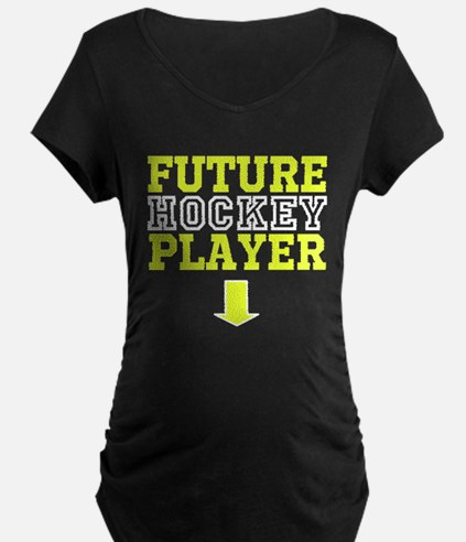 Future Hockey Player Maternity Dark Tee