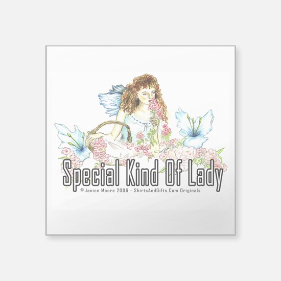 "special lady Square Sticker 3"" x 3"""