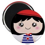 Cute French Girl cartoon Magnet