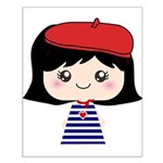 Cute French Girl cartoon Small Poster