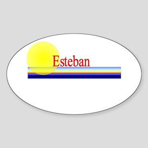Esteban Oval Sticker