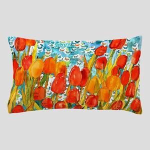 Orange Tulips Decorative Pillow Case