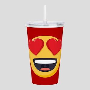 Heart Eyes Emoji Acrylic Double-wall Tumbler