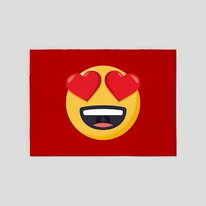 Heart Eyes Emoji 5'x7'Area Rug