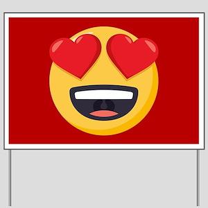 Heart Eyes Emoji Yard Sign