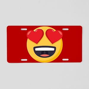 Heart Eyes Emoji Aluminum License Plate