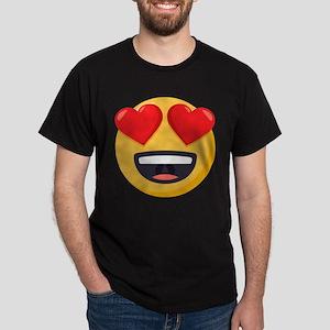 Heart Eyes Emoji Dark T-Shirt