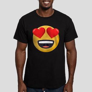 Heart Eyes Emoji Men's Fitted T-Shirt (dark)