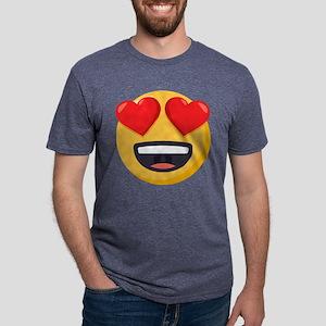 Heart Eyes Emoji Mens Tri-blend T-Shirt