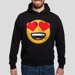 Heart Eyes Emoji Hoodie (dark)