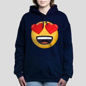Heart Eyes Emoji Women's Hooded Sweatshirt