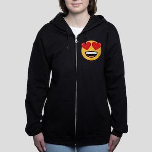 Heart Eyes Emoji Women's Zip Hoodie