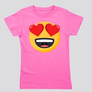 Heart Eyes Emoji Girl's Tee
