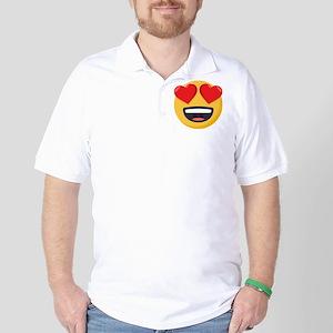 Heart Eyes Emoji Golf Shirt