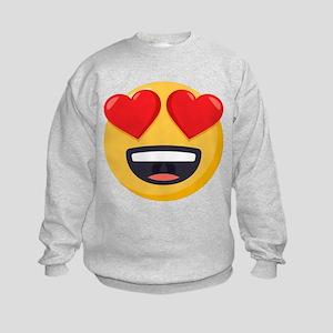 Heart Eyes Emoji Kids Sweatshirt