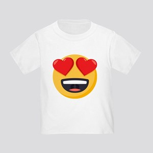 Heart Eyes Emoji Toddler T-Shirt