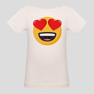 Heart Eyes Emoji Organic Baby T-Shirt