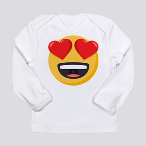 Heart Eyes Emoji Long Sleeve Infant T-Shirt
