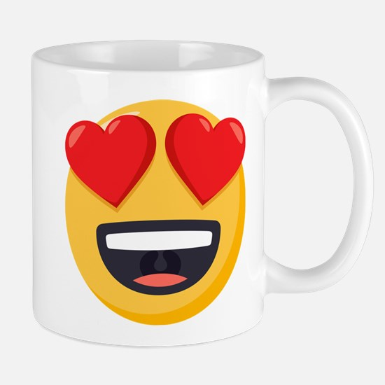 Heart Eyes Emoji Mug