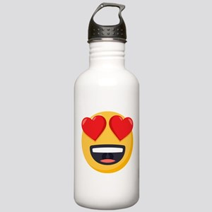 Heart Eyes Emoji Stainless Water Bottle 1.0L