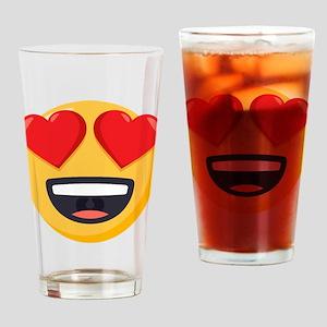 Heart Eyes Emoji Drinking Glass
