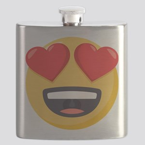 Heart Eyes Emoji Flask