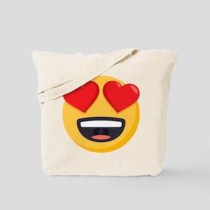 Heart Eyes Emoji Tote Bag