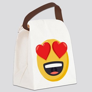Heart Eyes Emoji Canvas Lunch Bag