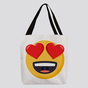 Heart Eyes Emoji Polyester Tote Bag