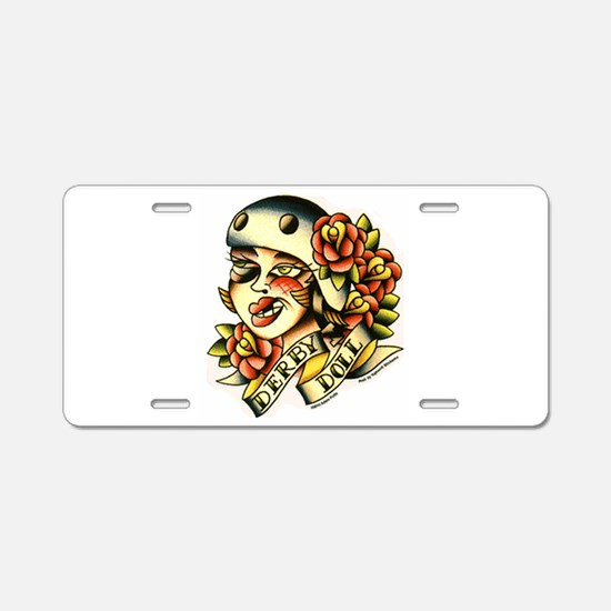 Derby Doll Aluminum License Plate