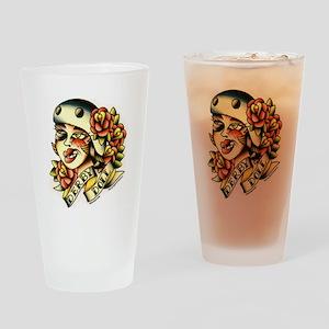 Derby Doll Drinking Glass