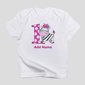 First Birthday Zebra Infant T-Shirt