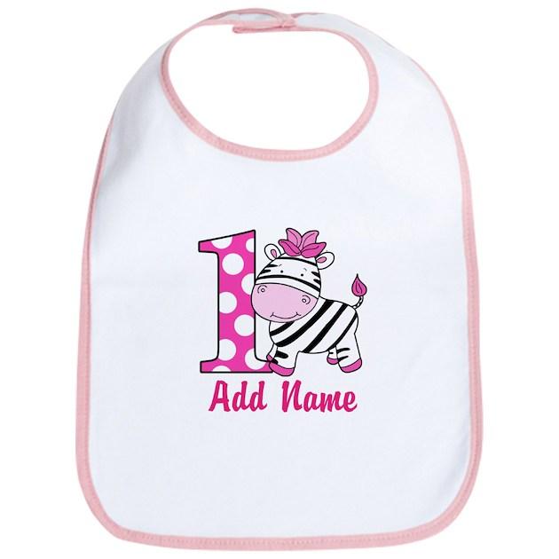 First Birthday Pink Zebra 1st Birthday Bib By Artbyjessie