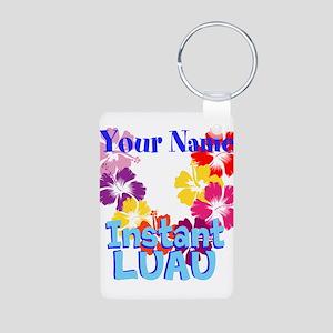 Custom Luau Aluminum Photo Keychain