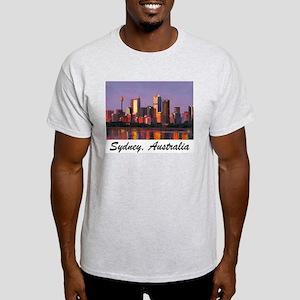 Sydney Dusk Painting Ash Grey T-Shirt