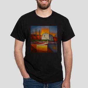 Barque au matin Dark T-Shirt