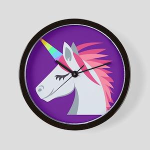 Unicorn Emoji Wall Clock