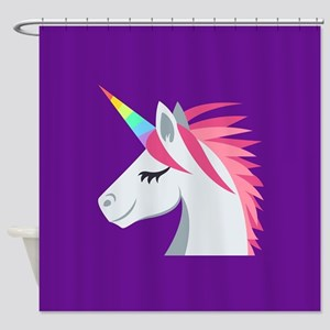 Unicorn Emoji Shower Curtain