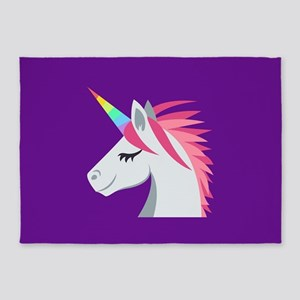Unicorn Emoji 5'x7'Area Rug