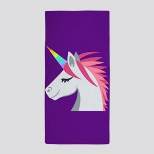 Unicorn Emoji Beach Towel