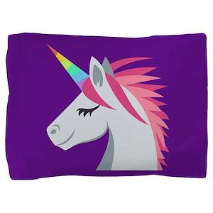 Unicorn Emoji Pillow Sham