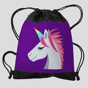Unicorn Emoji Drawstring Bag