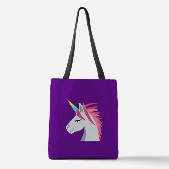 Unicorn Emoji Polyester Tote Bag