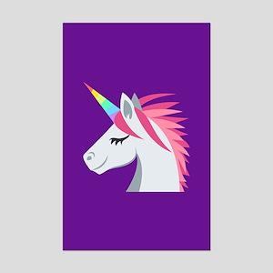 Unicorn Emoji Mini Poster Print