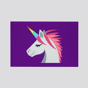 Unicorn Emoji Rectangle Magnet