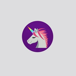 Unicorn Emoji Mini Button