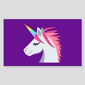 Unicorn Emoji Sticker (Rectangle)