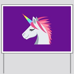 Unicorn Emoji Yard Sign