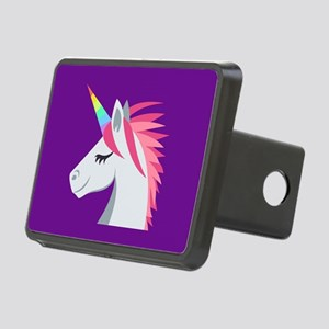 Unicorn Emoji Rectangular Hitch Cover