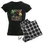 Happy Anniversary (B) Women's Dark Pajamas
